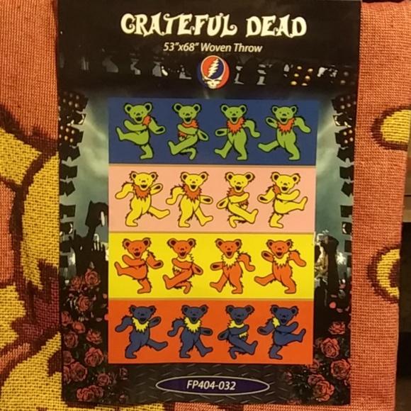Accessories Brand New Grateful Dead Woven Throw Blanket Poshmark Delectable Grateful Dead Throw Blanket